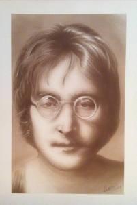 John Lennon 'imagine' monochrome